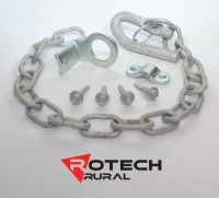 Farm Gate Latch Kit Screw On or Weld On Spring Loaded - 500mm Chain SCLK500S
