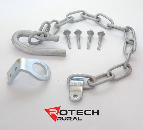 Farm Gate Latch Kit Screw On or Weld On - 350mm Chain