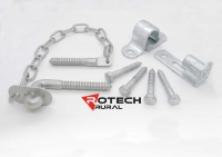 Farm Gate Screw on Hinge and Chain Latch Kit FG4-ORL350